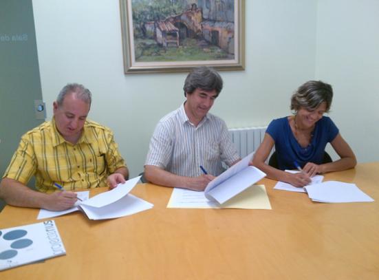 L'Ajuntament d'Avinyó, El Grup Ecologista d'Avinyó i l'Associació Hàbitats signen un acord per tal de millorar el riu i el seu entorn