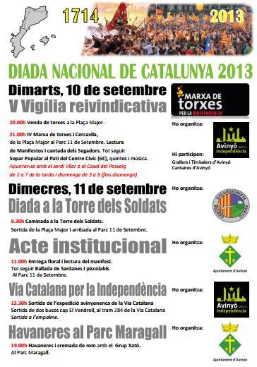 cartell activitats diada 11 setembre 2013 avinyó