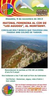 El Centre Excursionista organitza una sortida femenina alMontseny