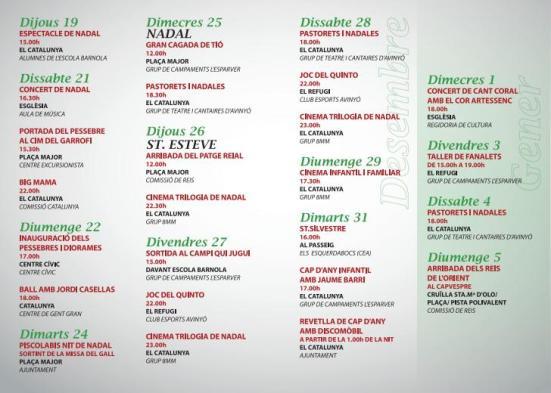 agenda nadal avinyó 2013