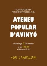 Reunió oberta per formar un Ateneu Popular aAvinyó
